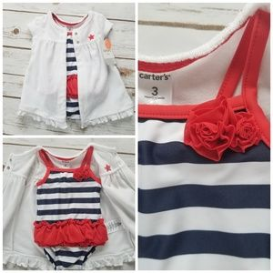 NWT Carter's 4th of July 2pc Bathing Suit Set| 3M